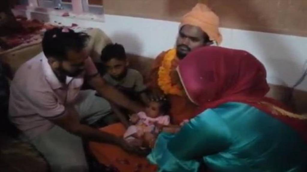hansi baby given to temple
