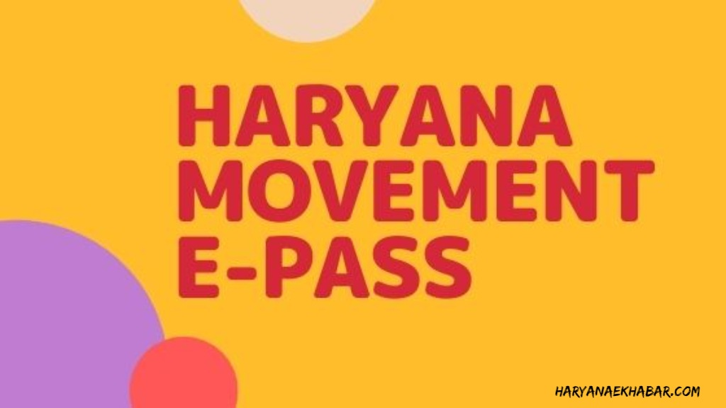 HARYANA MOMENT EPASS ONLINE APPLY